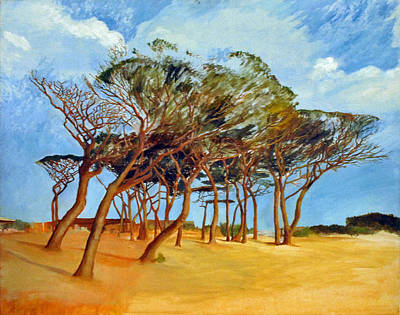 St.tropez Painting - Tahiti Beach -st. Tropez by Rainer Jacob