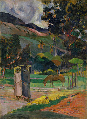 Painting - Tahitian Landscape, 1892 by Paul Gauguin