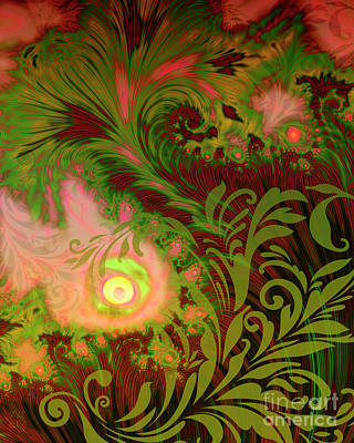 Fall Colour Digital Art - Tahitian Sunrise Sultry Tropical Fall Fantasy Dreamscape by Tina Lavoie