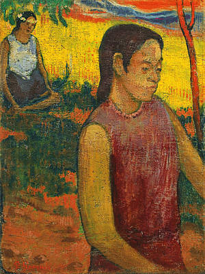 Paul Gauguin Painting - Tahitiennes by Paul Gauguin