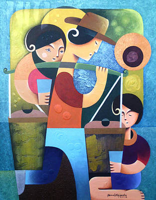 Philippine Art Painting - Taho Vendor by Hermel Alejandre
