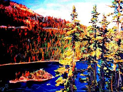 Mixed Media - Tahoe by Banning Lary