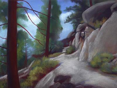 Tahoe Flume Trail Art Print