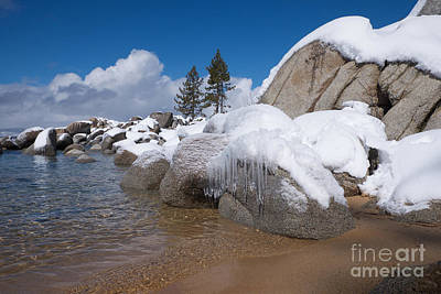 Photograph - Tahoe Icicles by Vinnie Oakes