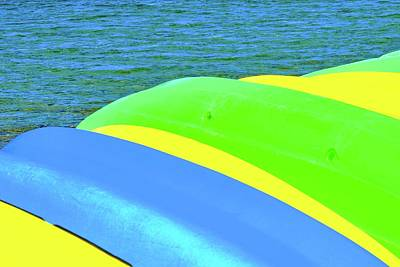 Photograph - Tahoe Kayaks Abstract by Kirsten Giving