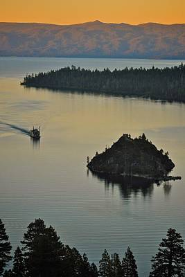 Tahoe Queen Steaming Into Emerald Bay Art Print