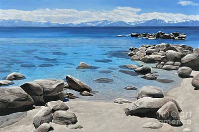 Lake Tahoe Painting - Tahoe Shoreline by Carina Mascarelli