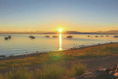 Photograph - Tahoe Sunrise by Wes Jimerson