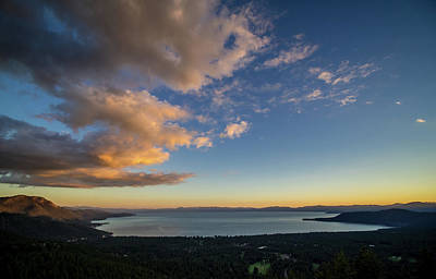Photograph - Tahoe Sunset Stillness by Martin Gollery
