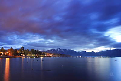 Photograph - Tahoe Twilight by Geoffrey Lewis