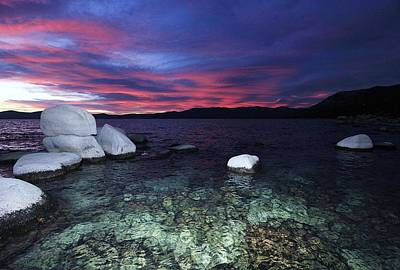 Photograph - Tahoe Twilight Jewels by Sean Sarsfield