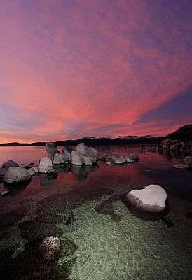 Photograph - Tahoe Twilight Nectar by Sean Sarsfield