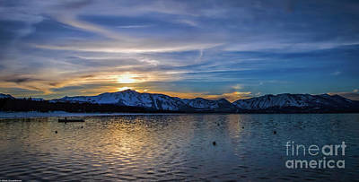Photograph - Tahoe Winter Evening by Mitch Shindelbower