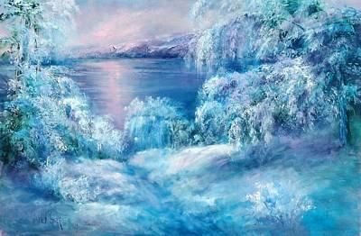 Tahoe Winter Art Print by Sally Seago