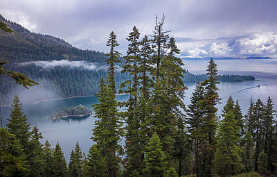 Photograph - Emerald Bay With Steamboat by Geoffrey Lewis