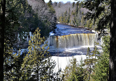 Riverstone Gallery Photograph - Tahquamenon Falls Winter by Gregory Steele