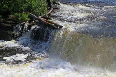 Photograph - Tahquamenon Lower Falls 3 by Mary Bedy
