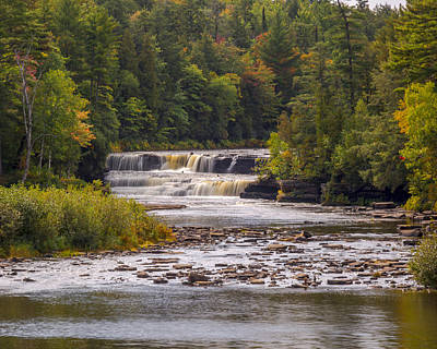 Photograph - Tahquamenon Lower Falls by Jack R Perry