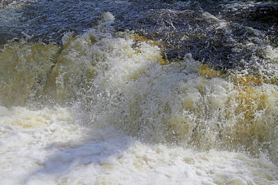 Photograph - Tahquamenon Lower Falls Rapids by Mary Bedy