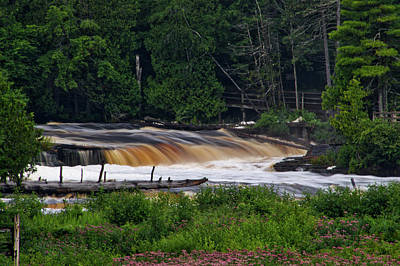 Photograph - Tahquamenon Lower Falls Upper Peninsula Michigan 04 by Thomas Woolworth