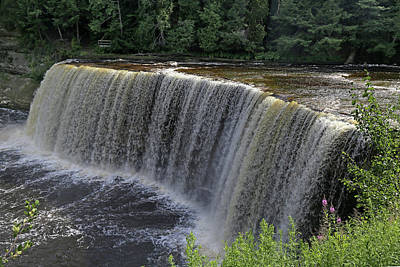 Photograph - Tahquamenon Upper Falls 4 by Mary Bedy