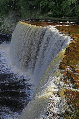 Photograph - Tahquamenon Upper Falls 5 by Mary Bedy