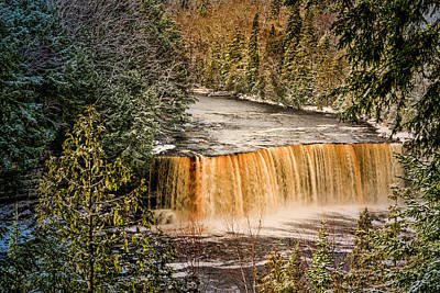 Photograph - Tahquamenon Winter Falls  by Thomas Gaitley