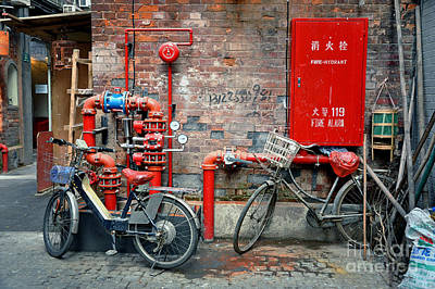 China Town Photograph - Taikang Lu by Delphimages Photo Creations