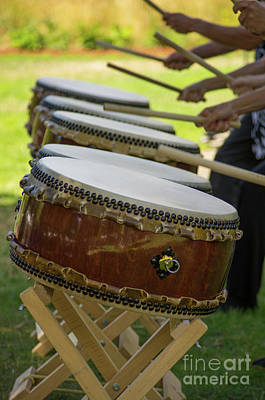 Photograph - Taiko Drum Line 1 by Rick Bures