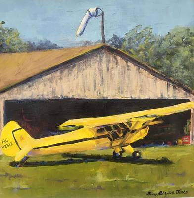Piper Cub Painting - Tail Dragger by Susan E Jones