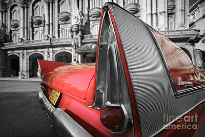 Havana Photograph - Tail Fin - Havana - Cuba by Rod McLean