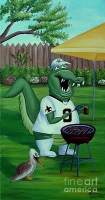 Louisiana Alligator Painting - Tail-gator by Valerie Carpenter