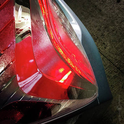 Painting - Tail Light Abstract by Tim Nyberg