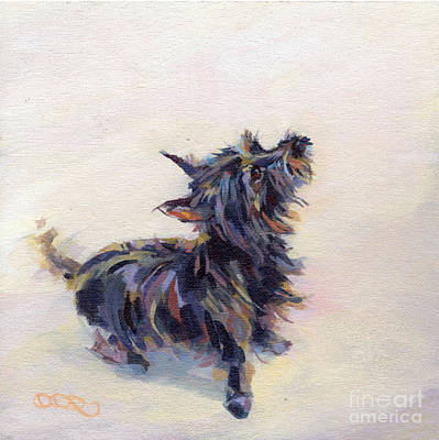 Cairn Terrier Painting - Tail Wagging Fury by Kimberly Santini