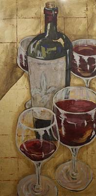 Wine Mixed Media - Tailgate Party I by Maria Boudreaux