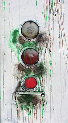 Photograph - Taillights On A Very Old Bus by Gary Slawsky