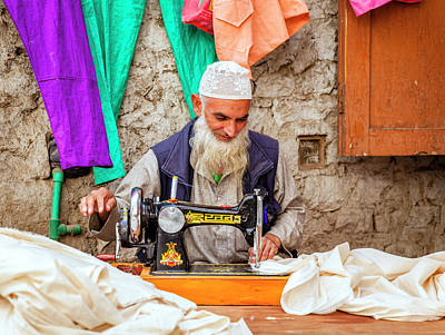 Photograph - Tailor In Leh by Alexey Stiop