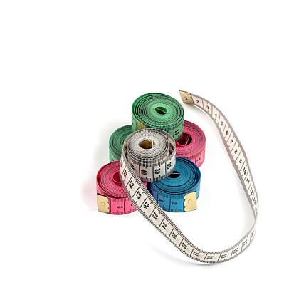 Component Mixed Media - Tailor Measuring Tapes by Boyan Dimitrov