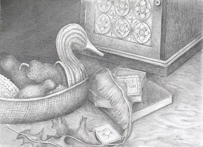 Drawing - Tails Of The Wicher Duck by Tracie L Hawkins