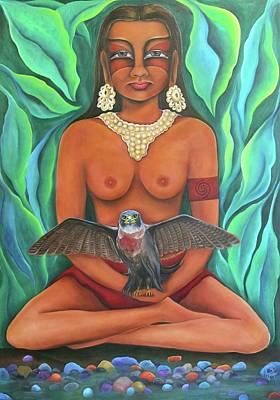 Painting - Taina Guardian by Janice Aponte
