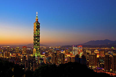 Taipei Photograph - Taipei 101 At Dusk by Jung-Pang Wu