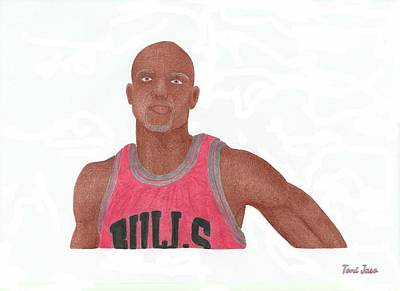 Drawing - Taj Gibson by Toni Jaso