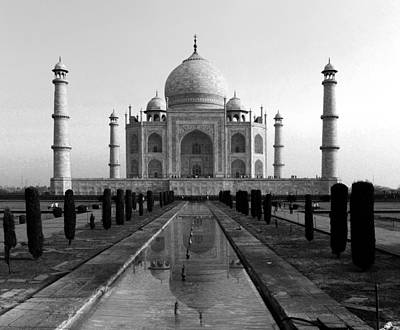 Photograph - Taj Mahal 6 Bw by C H Apperson