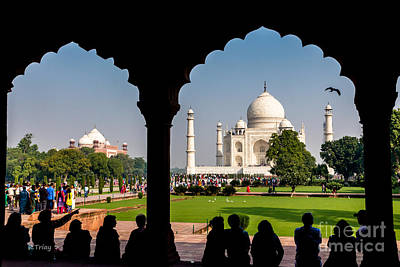 Photograph - Taj Mahal- The Intently Amazed Gazers  by Rene Triay Photography