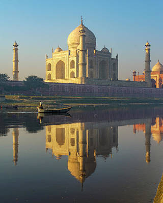 Photograph - Taj Mahal And Yamuna River by Ken Aaron