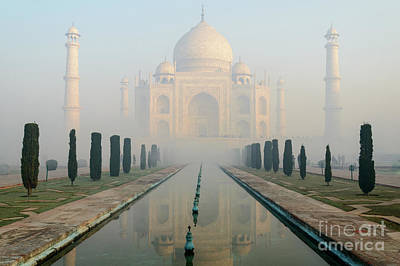 Photograph - Taj Mahal At Sunrise 02 by Werner Padarin
