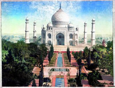 Photograph - Taj Mahal - Remastered by Carlos Diaz