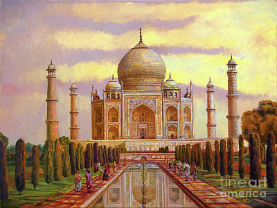 Taj Mahal Art Print by Dominique Amendola