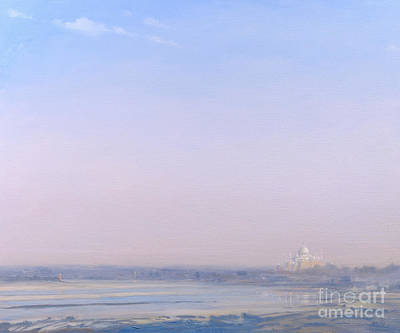 Dome Painting - Taj Mahal From Agra Fort by Derek Hare