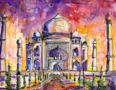 Painting - Taj Mahal by Ginette Callaway